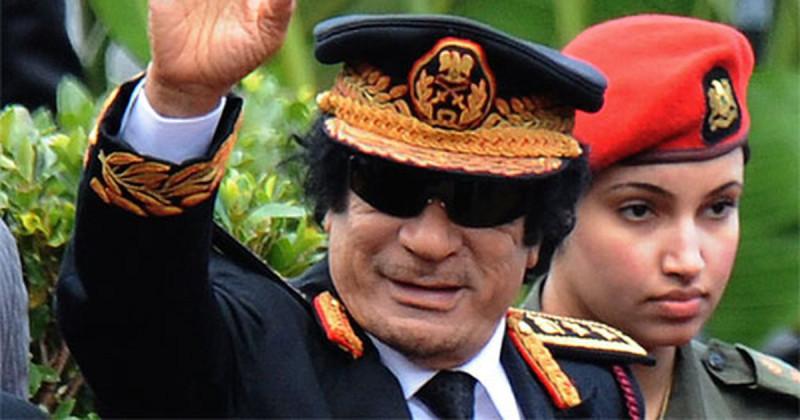 полковник Каддафи и его телохранительница