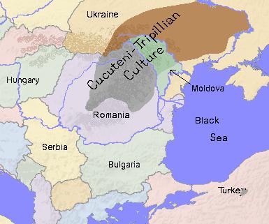 cucuteni map