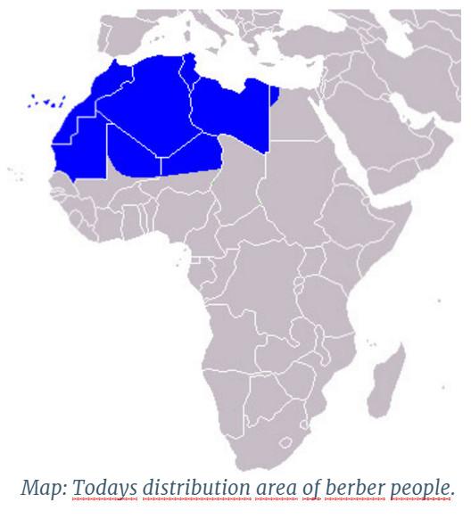 Место проживания берберов в Африке