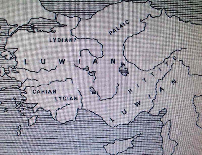 Лувийцы на карте