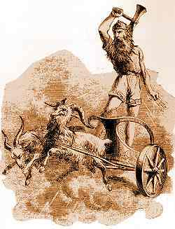 thor in goat chariot