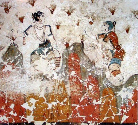 picking saffron fresco