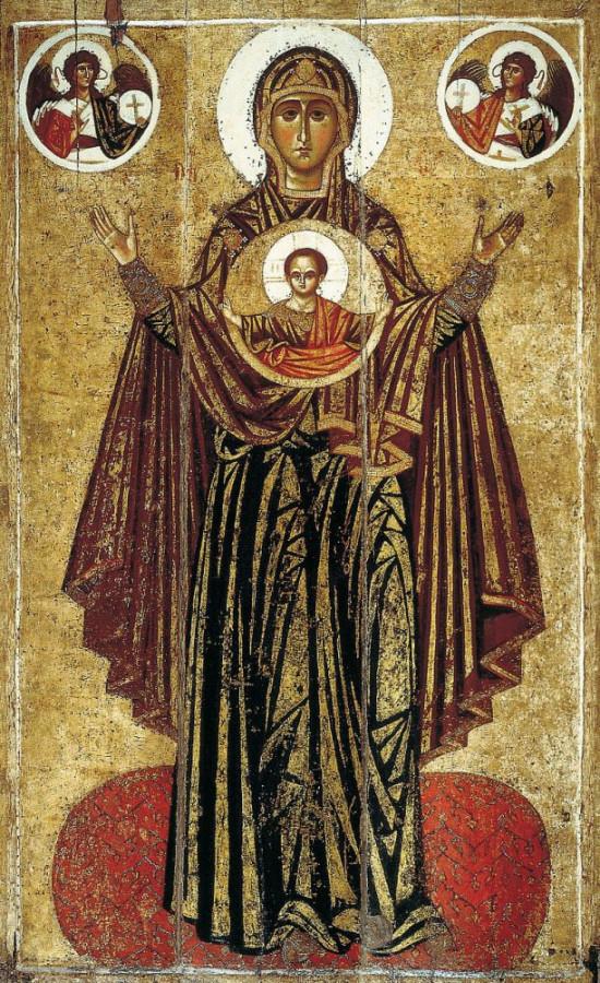 Ярославская Оранта называется Великой Панагией.