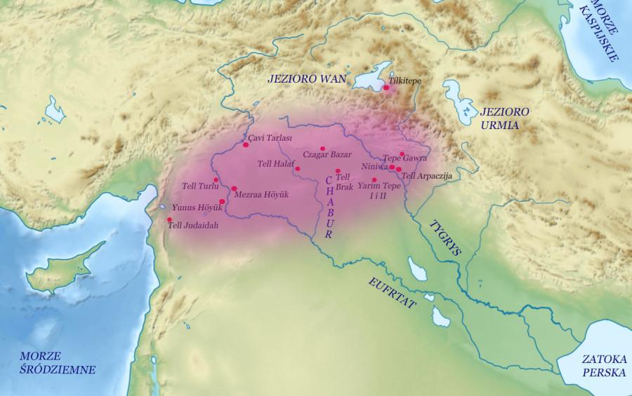 Халафская культура на карте