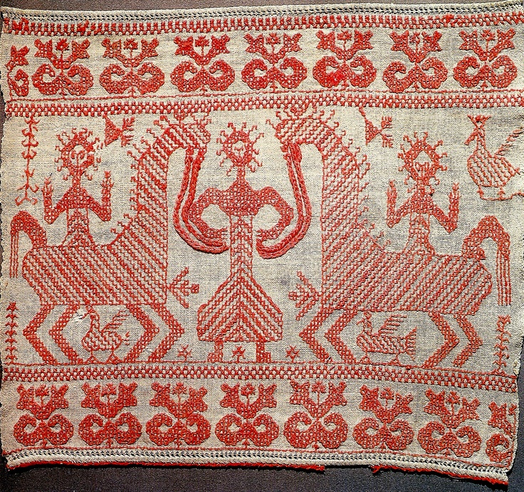 The image of the mother goddess. Russia. Wedding towel.1886