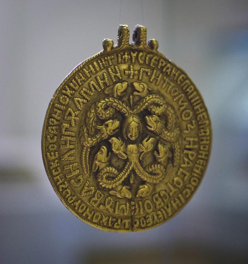 Черниговская гривна. Змеевик. XI век