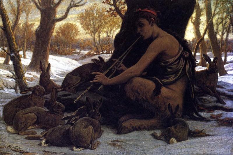Илайхью Веддер (1836 - 1923). Марсий очаровывает зайцев