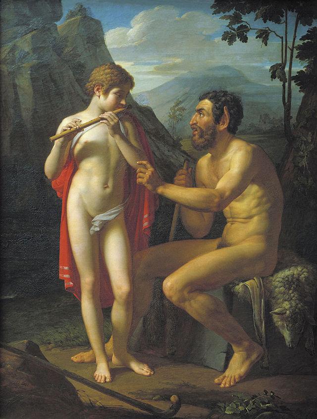 Басин П. В. «Фавн Марсий учит молодого Олимпия игре на свирели», 1821
