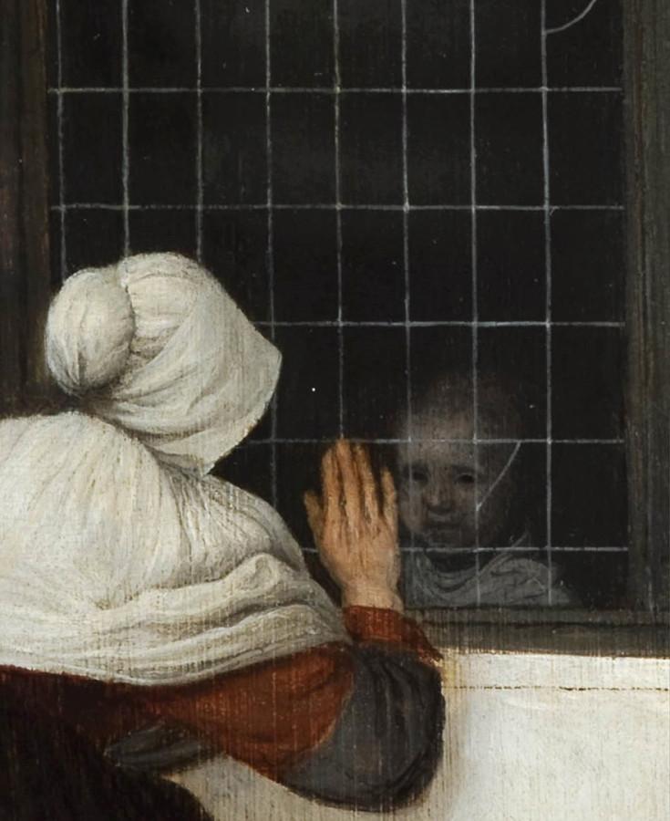 Jacob Vrel - «Женщина у окна машет маленькой девочке», 1650 - 2