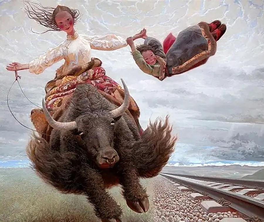 Китайский художник Wang Yiguang.