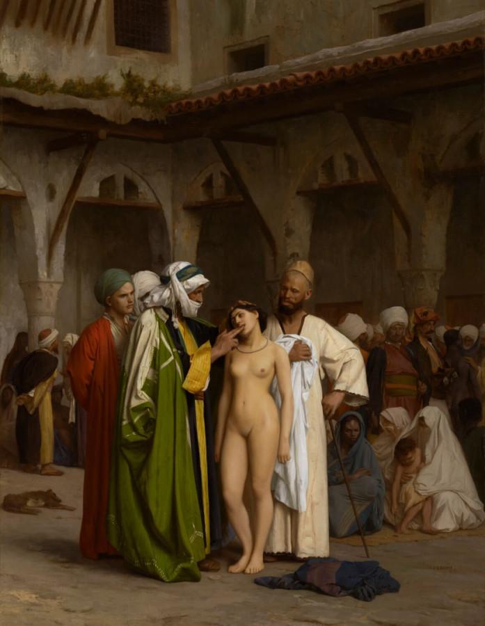 Жан-Леон Жером(1824-1904). «Арабский рынок наложниц»