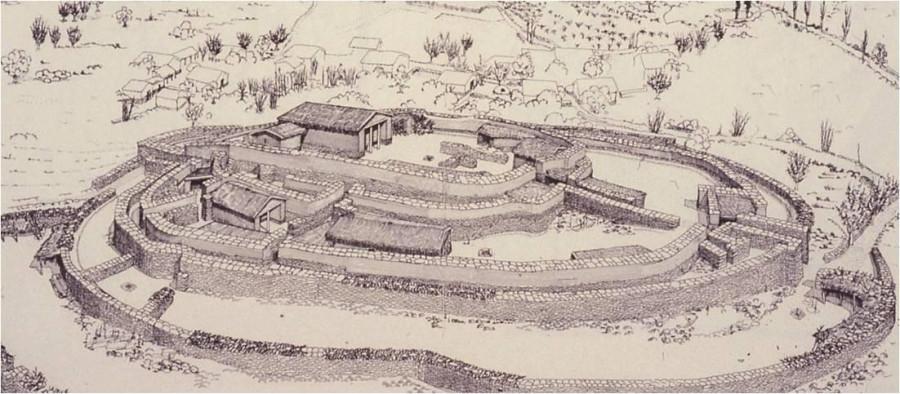 Реконструкция поселения димини.
