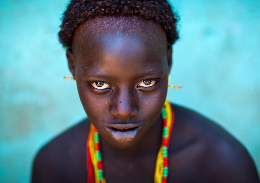 Девушка из племени хамер, Турми, Долина Омо, Эфиопия