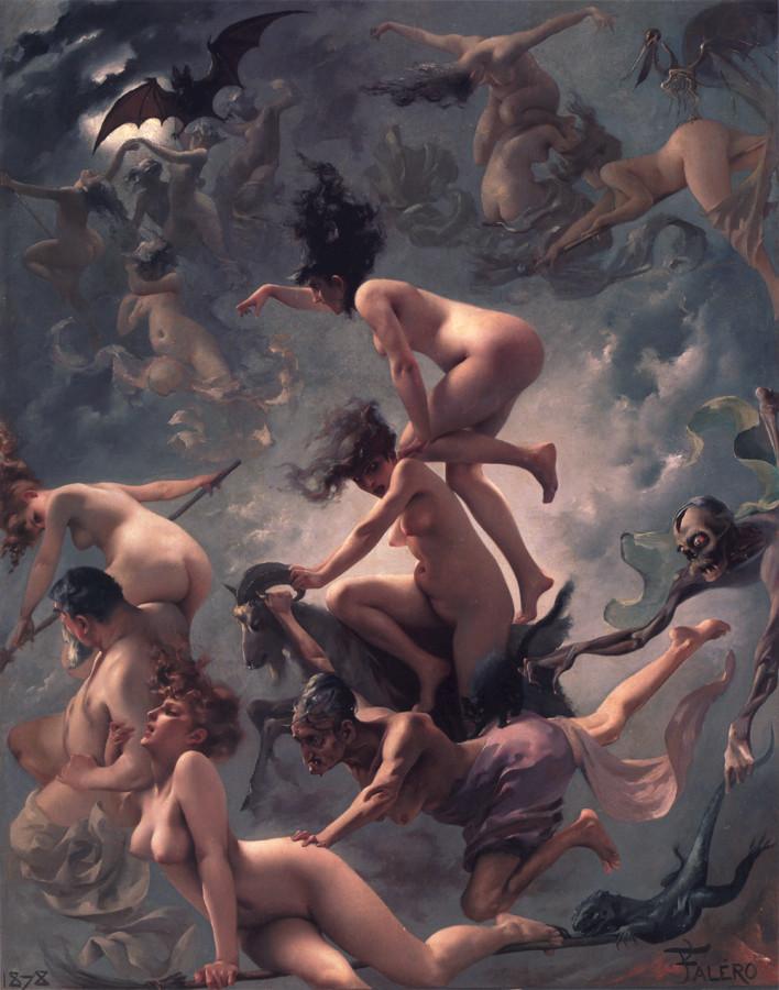 Luis Ricardo Falero - Le départ des sorcières