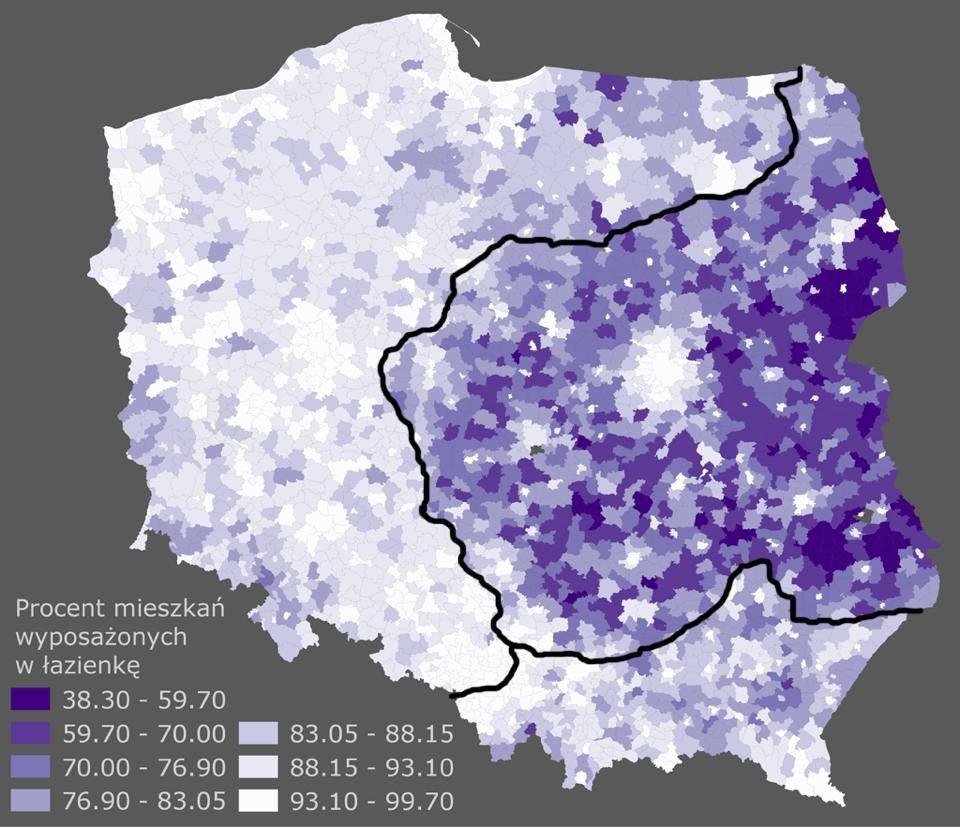 карта распространенности туалетов во дворе и дома