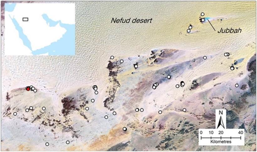 местонахождение_мустатилов__найденных_на_северо-востоке_Саудовской_аравии