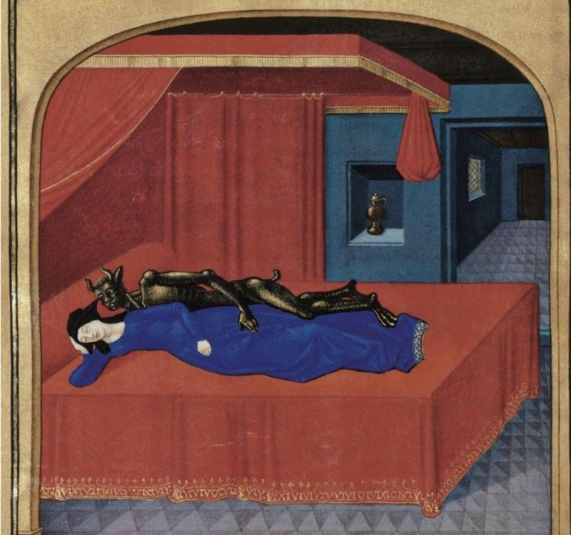 Секс с дьяволом. Средневековые книжные миниатюры.