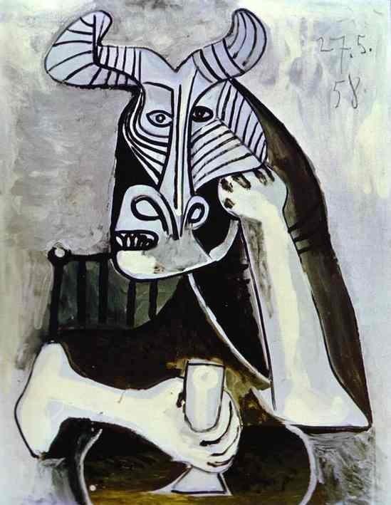 Пикассо. Задумчивый бычара