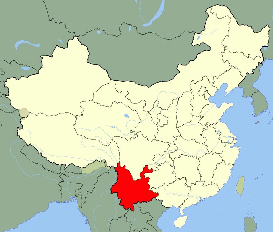 China_Yunnan_location_map