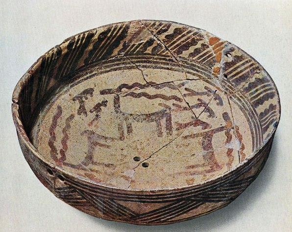 Hassuna redware bowl, circa 5500 BC