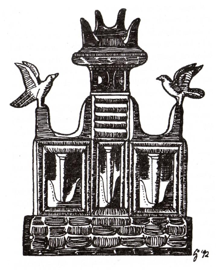 MycenaeGoldOrnamentShrinemodelHorns