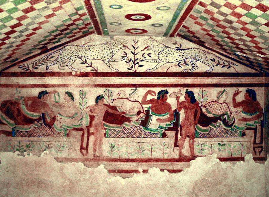 фреска из Гробницы Леопардов