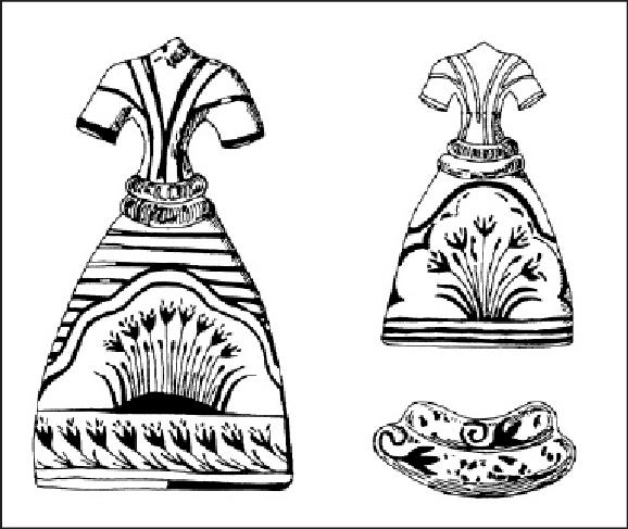 faience-models-of-two-female-dresses-wih crocuses