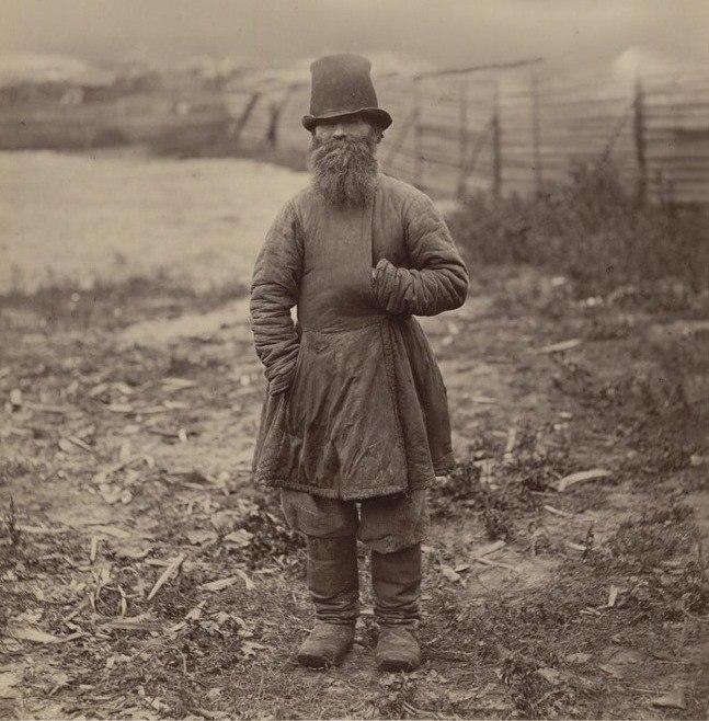 Крестьянин Тамбовской губернии. Фото Жана Ксавье Рауля, конец 1870-х