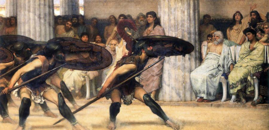 Альма-Тадема. Пиррический танец. 1869.