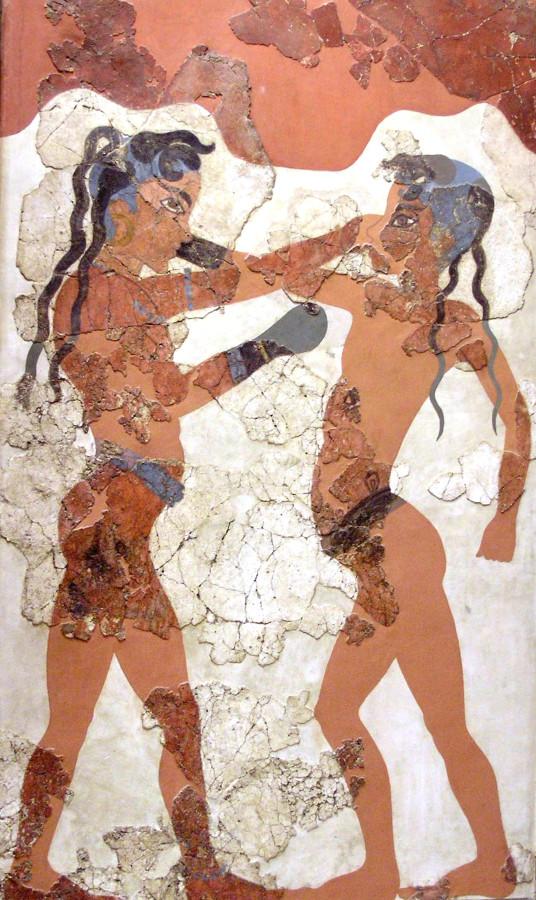Боксирующие мальчики (фреска с острова Санторин)