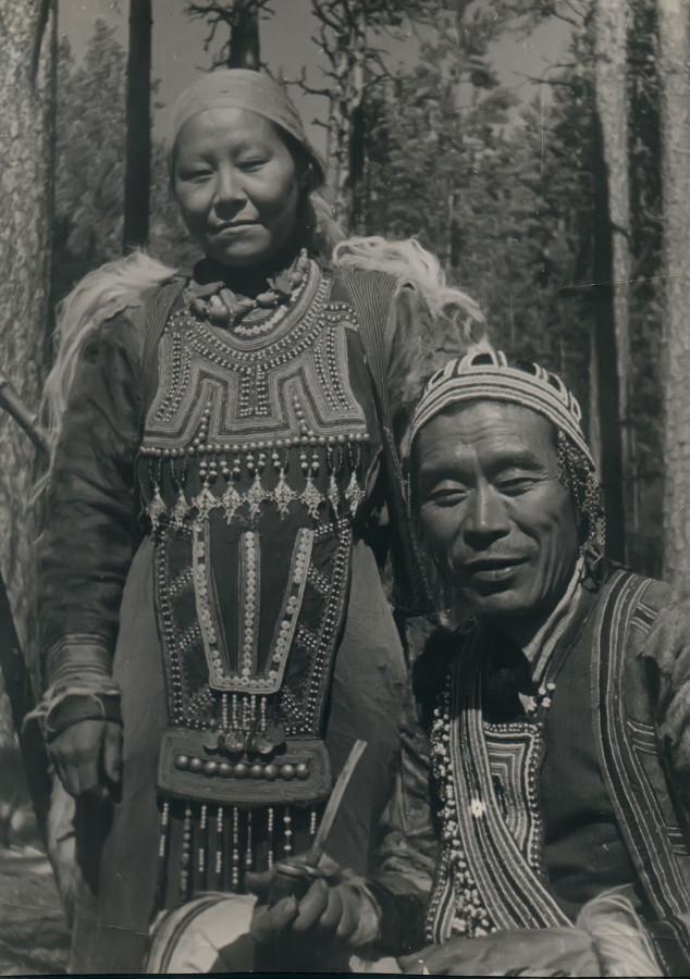 Семья эвенков (тунгусов) Ивигиных. 1938 год.