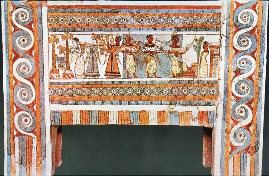 Расписной саркофаг из Агиа-триады