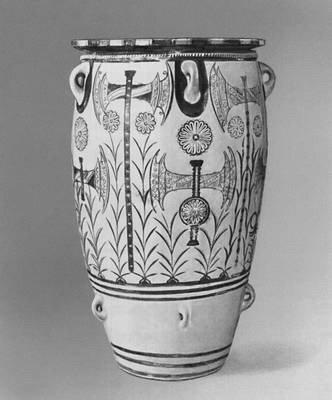 Пифос дворцового стиля из Кноса. Около 1450 до н. э. Археологический музей. Ираклион