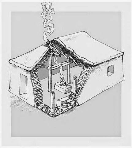 reconstruction of MN Greek house, 5800-5300 bce