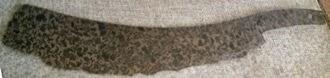 bronze razor from Phylos ca 1200s bce
