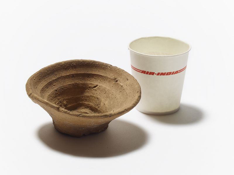 minoan_cup_alongside_paper_cup_from_air_india_photo__the_trustees_of_the_british_museum_
