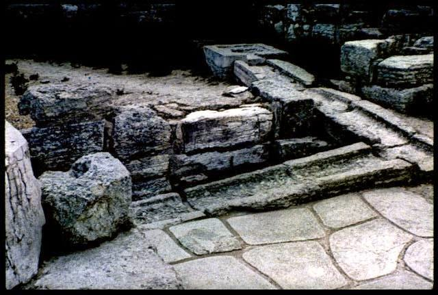 stone drainage channel at Minoan Knossos