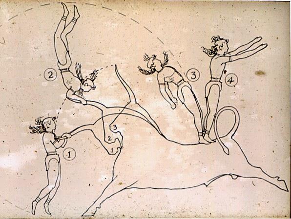 diagram of Minoan bull leaping