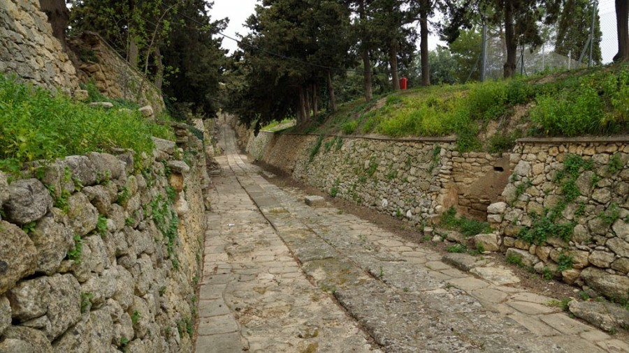 The road leading away from the palace-temple, Knossos