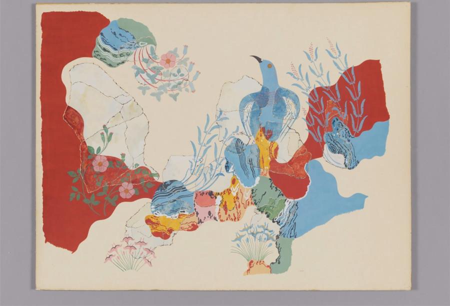 the blue bird fresco full