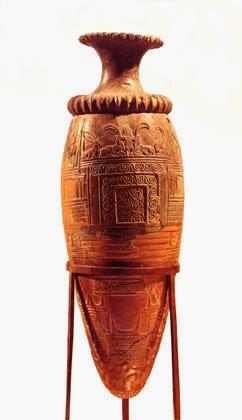 rhyton with a representation of a peak sanctuary, LBA 1550-1500 bce from Zakros, Minoan