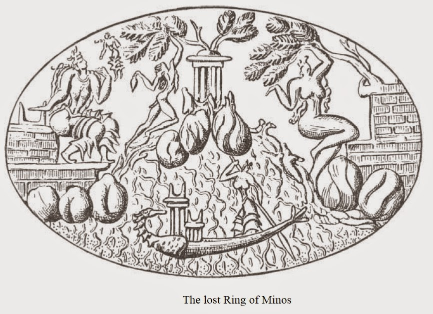 the lost ring of king minos drawing