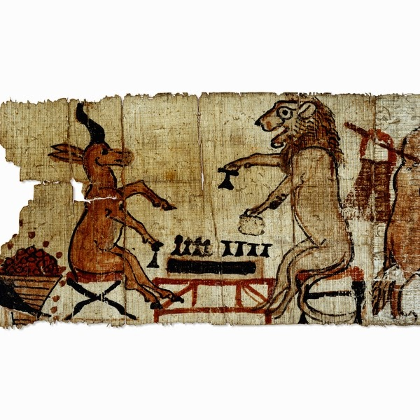 playing senet from the satirical papyrus