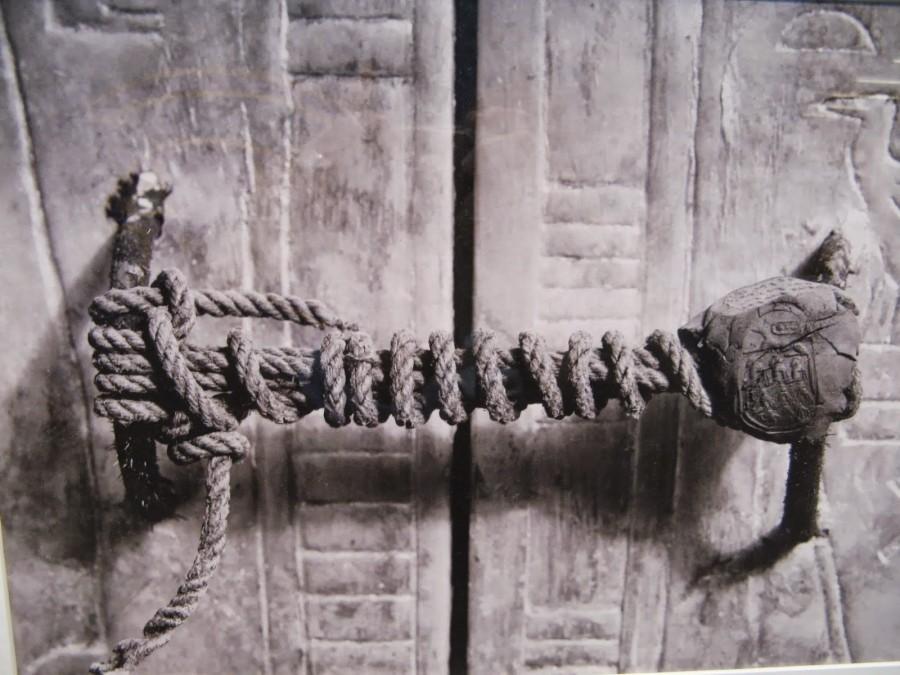 unbroken seal on King Tutankhamun's 5th shrine, 1323 bce