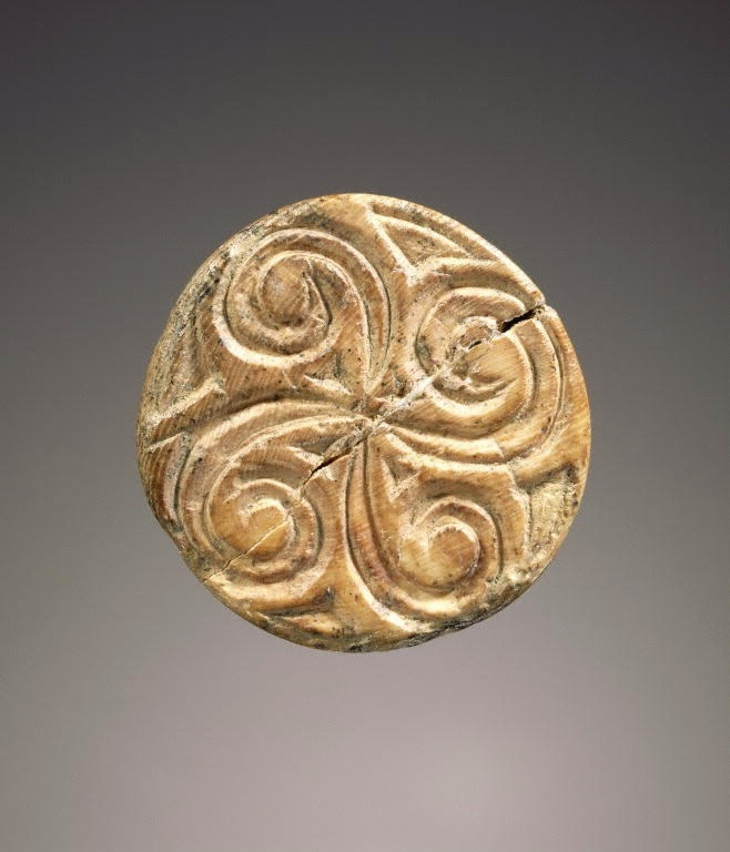 ivory cone seal with spiral design, 2300-2000 bce Minoan