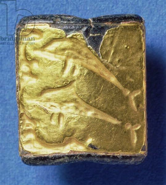 Gold Minoan seal of dolphins, 1800-1700 bce