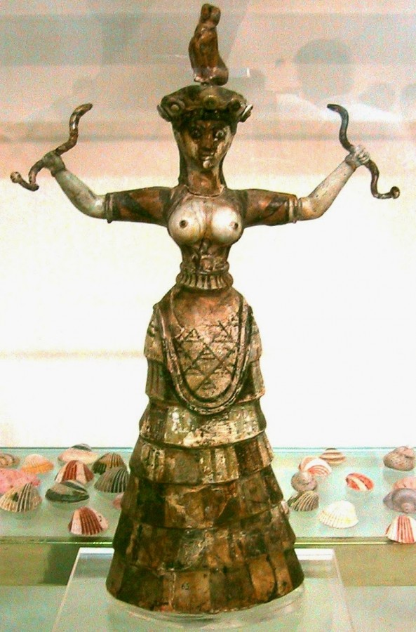 the most fanciful snake goddess figurine from Knossos