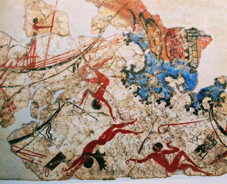 Wall painting from Akrotiri, 17th c.BC.