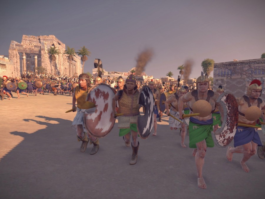 Minoan nobles attacking city