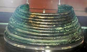 bronze ring neck armor found in Italy ca 1600-2000 bce